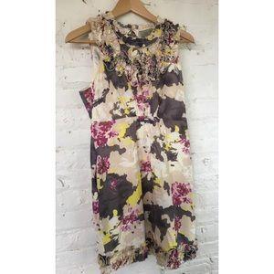 Floral empire waist dress